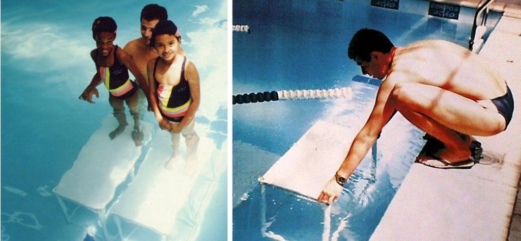 plataforma de fundo de piscina Actual