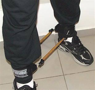 anel de tornozelo utilização