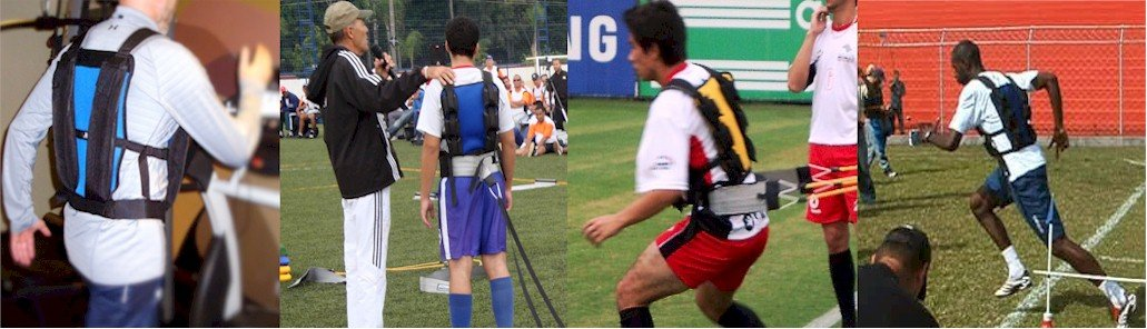 Várias cenas de coletes para treinamento funcional sendo utilizados por atletas.