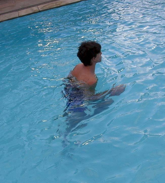 colete deep running M na piscina