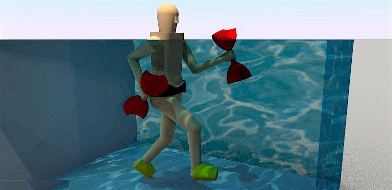 ilustração - praticante de deep running