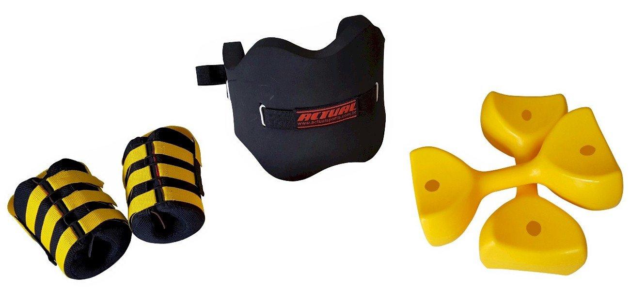 equipamentos para deep running - coletes botas e halteres