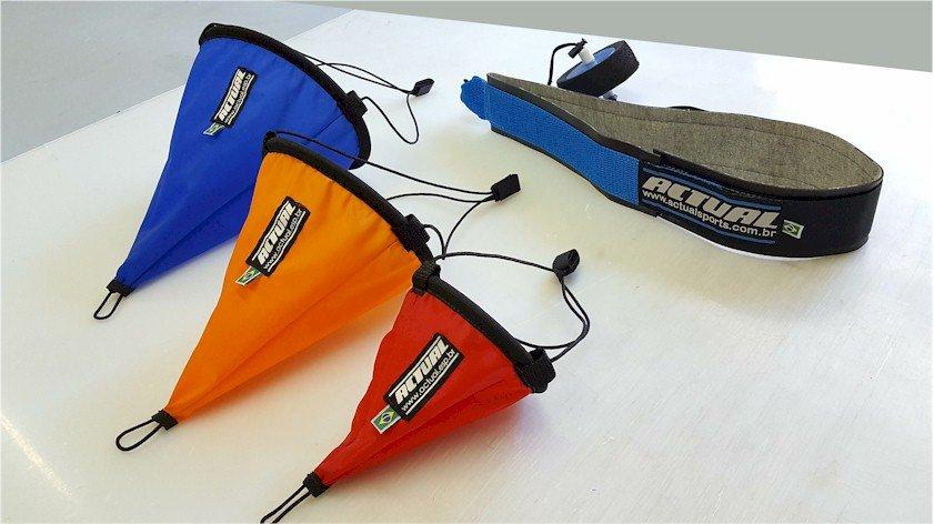 paraquedas natação de tecido Actual