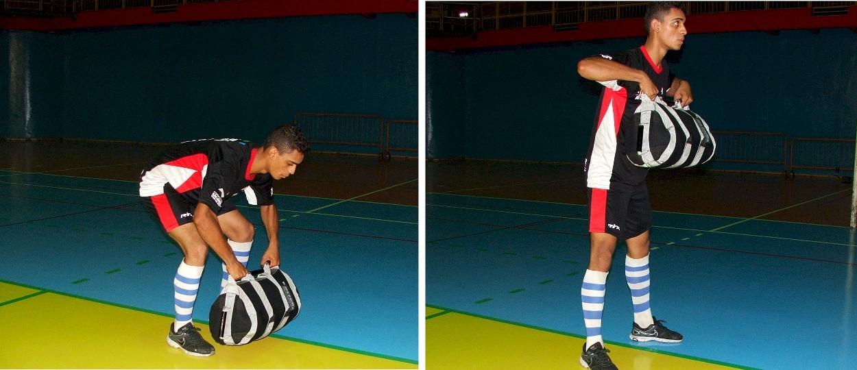 sandbag em atividade física