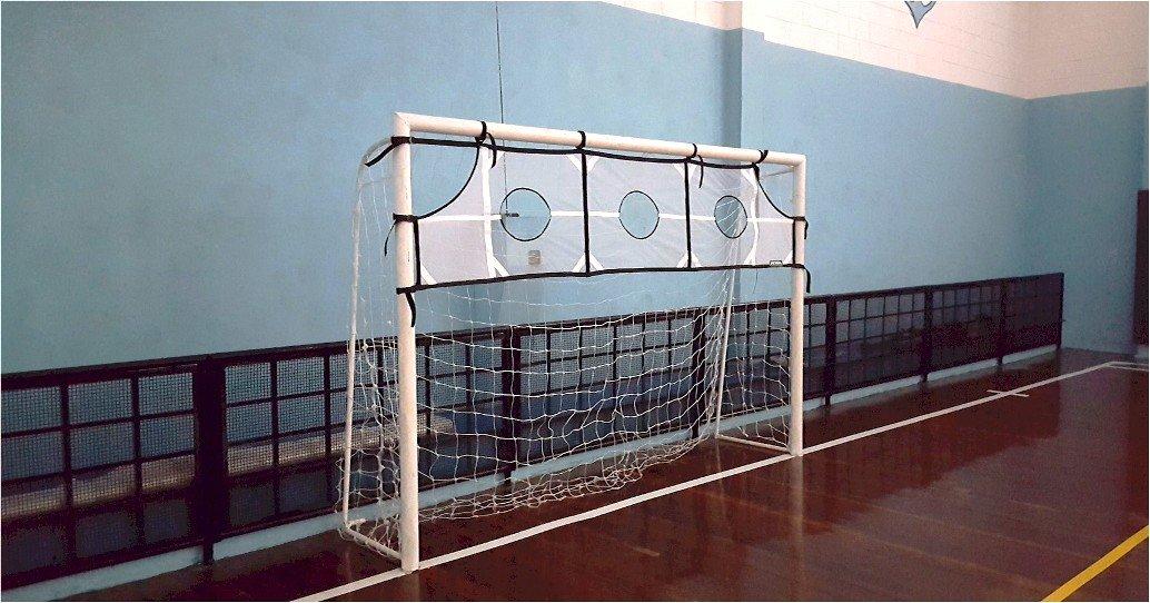Rede com alvo para Treino de chutes e arremessos, 1/3 de cobertura do gol