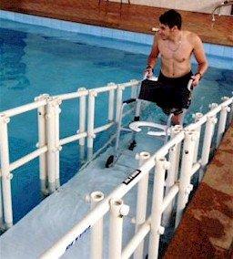 rampa de piscina Actual para adultos, crianças e portadores de necessidades especiais