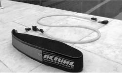 Cinto de natação Acxtual para treinamento de nado estático - modelo com elástico de látex
