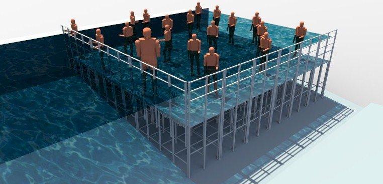 Plataformas para fundo de piscina actual acess rios for Plataforma para piscina