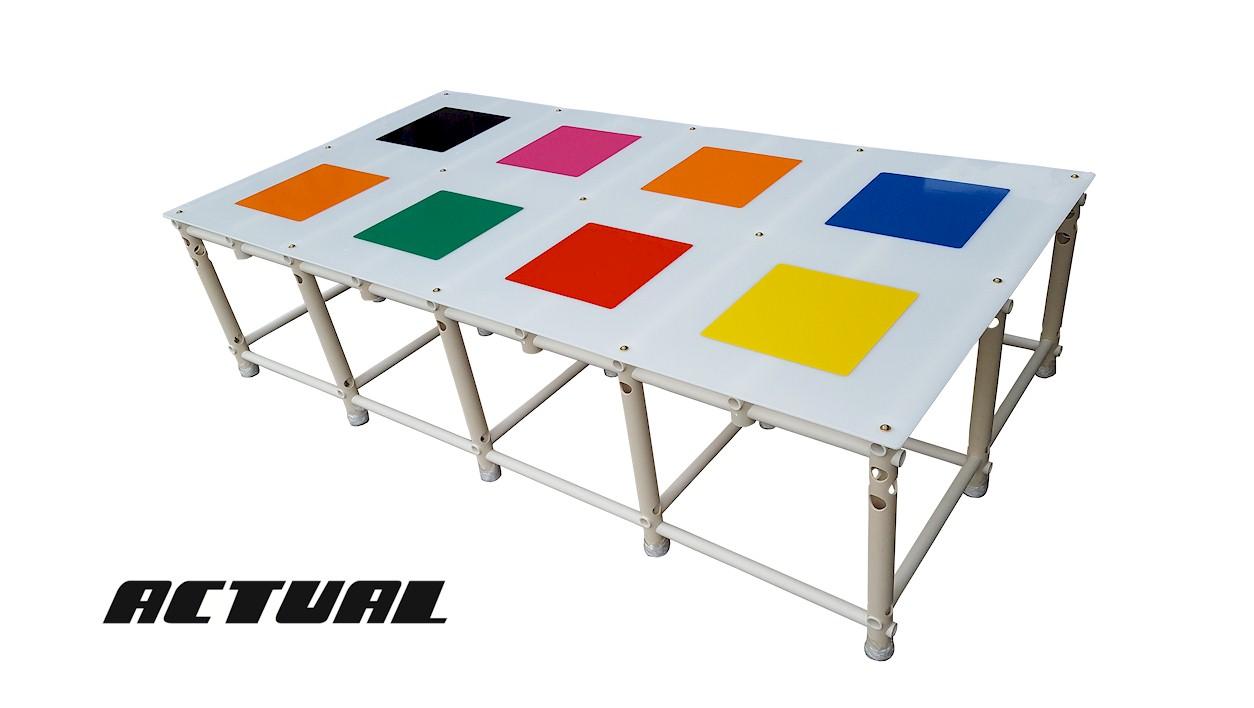 plataforma para fundo de piscina Actual 2x1 com placas cor