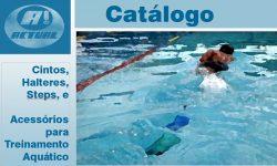 capa do catalogo de equipamentos aquáticos - produtos para treinamento aquático da Actual