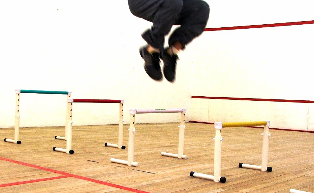 barreira de altura variável Actual em ginásio