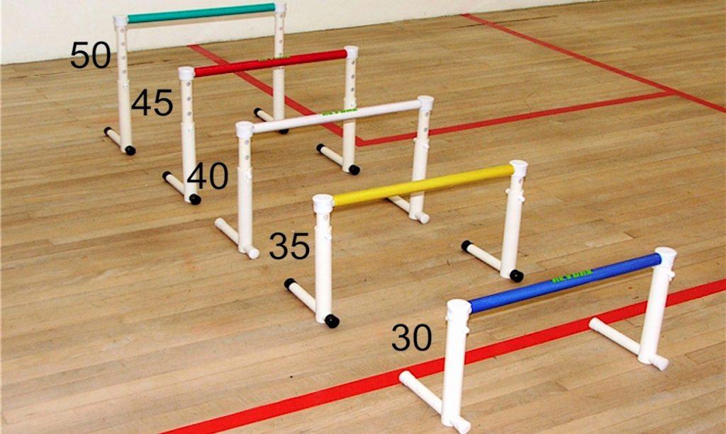 medidas da barreira de pliometria com altura variável