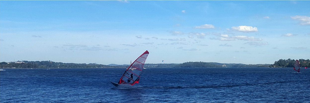 windsurf na team brasil base guarapiranga jibe