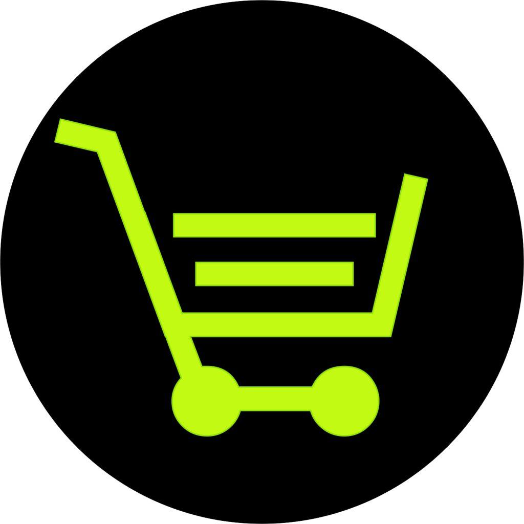 icone carrinho compras loja virtual da Actual