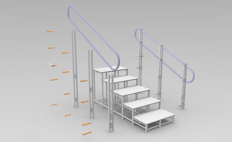 montagem de escada de piscina Actual
