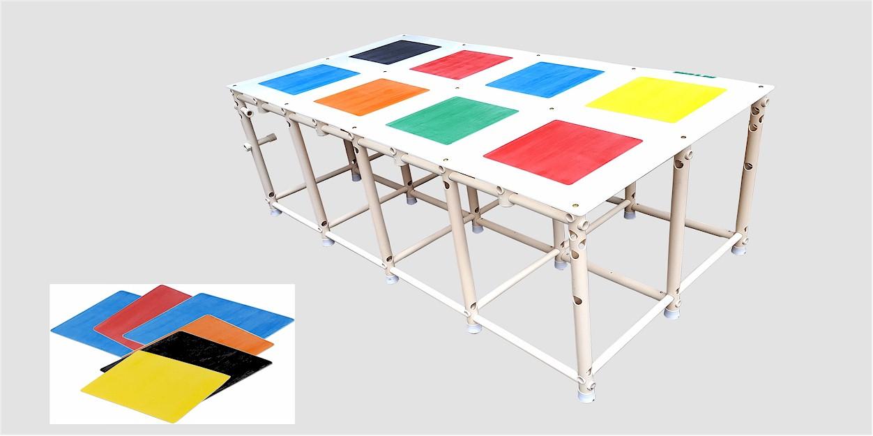 plataforma Actual com placas antiderrapantes acessórias