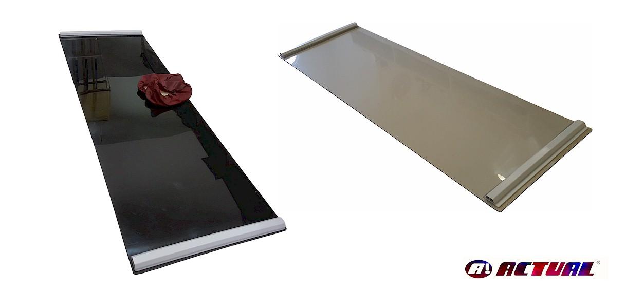 Cores disponíveis de slides fabricados pela Actual