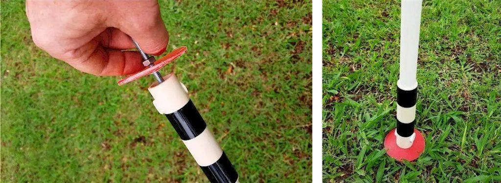 montagem da lança na estaca modelo Start para campo