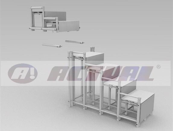 escada nbr 9050 Actual - ilustração com os dois módulos separados