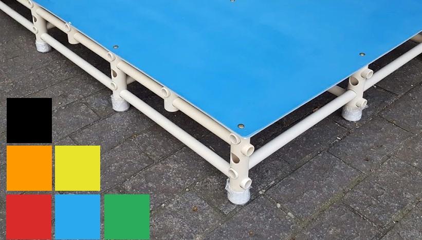 superfície antiderrapante na plataforma de piscina Actual - opção de cores