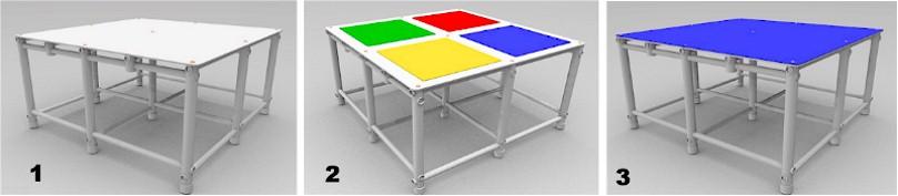acabamentos da superfície disponíveis da plataforma para piscina da Actual