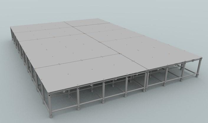 composição de plataformas para piscina Actual para a área de 350cmx500cm