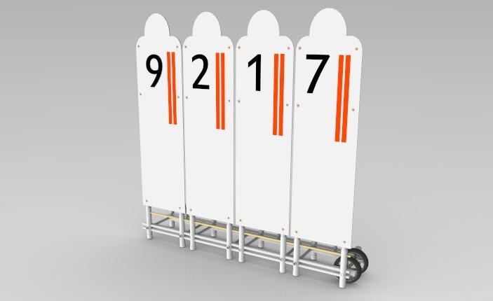 barreira fixa para treinamento de cobrança de faltas Actual - com 4 posições