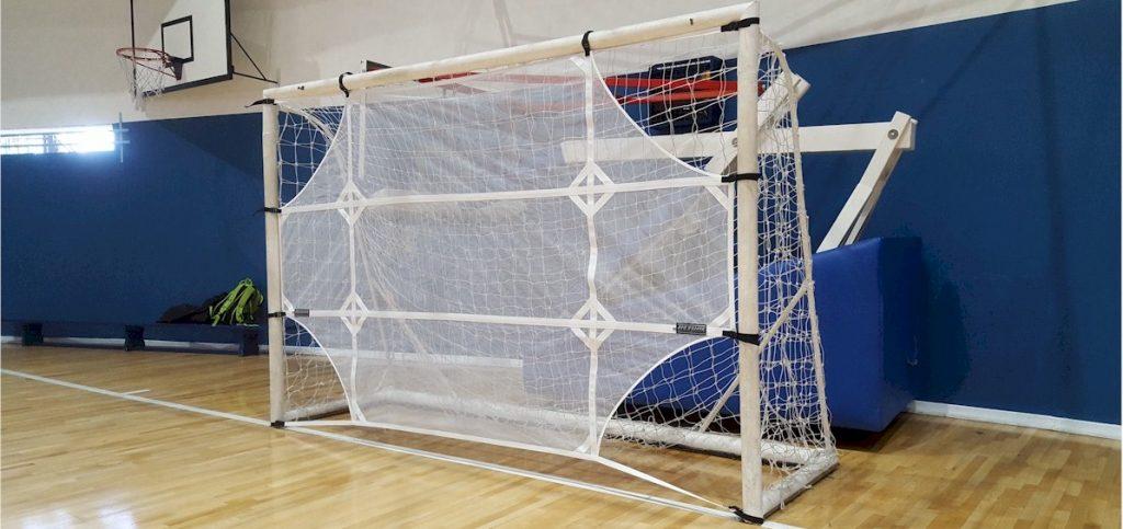rede com alvo para treino de tiro ao gol da Actual - futebol de salão