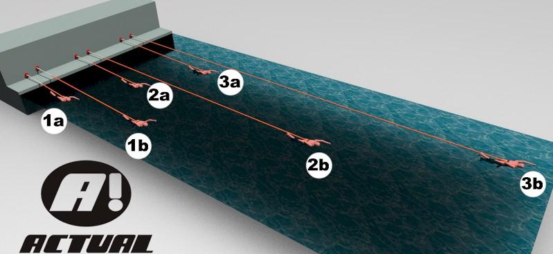 cinto de natacao Actual comparativo de alongamento por elásticos conectados