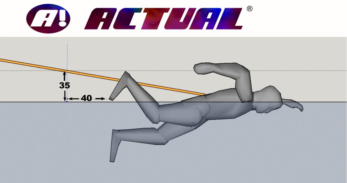 posição da altura do cinto de natação para não atrapalhar as pernas
