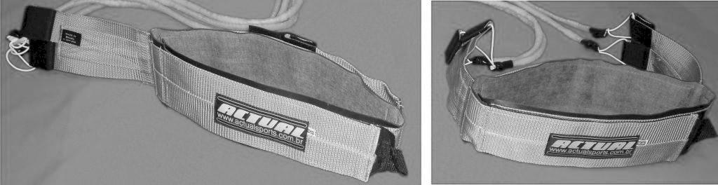 Disposição das abas do cinto de tração serie prata