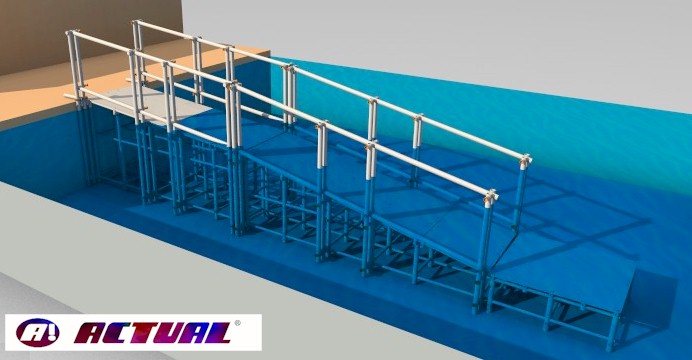 rampa de piscina Actual modelo básico